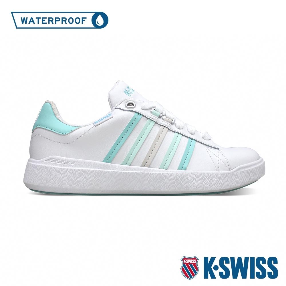 K-SWISS Pershing Court Light防水時尚運動鞋-女-白/粉綠