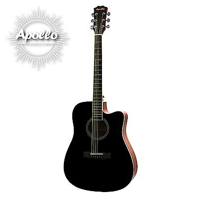 APOLLO A2-DC 缺角民謠吉他 經典曜岩黑色款