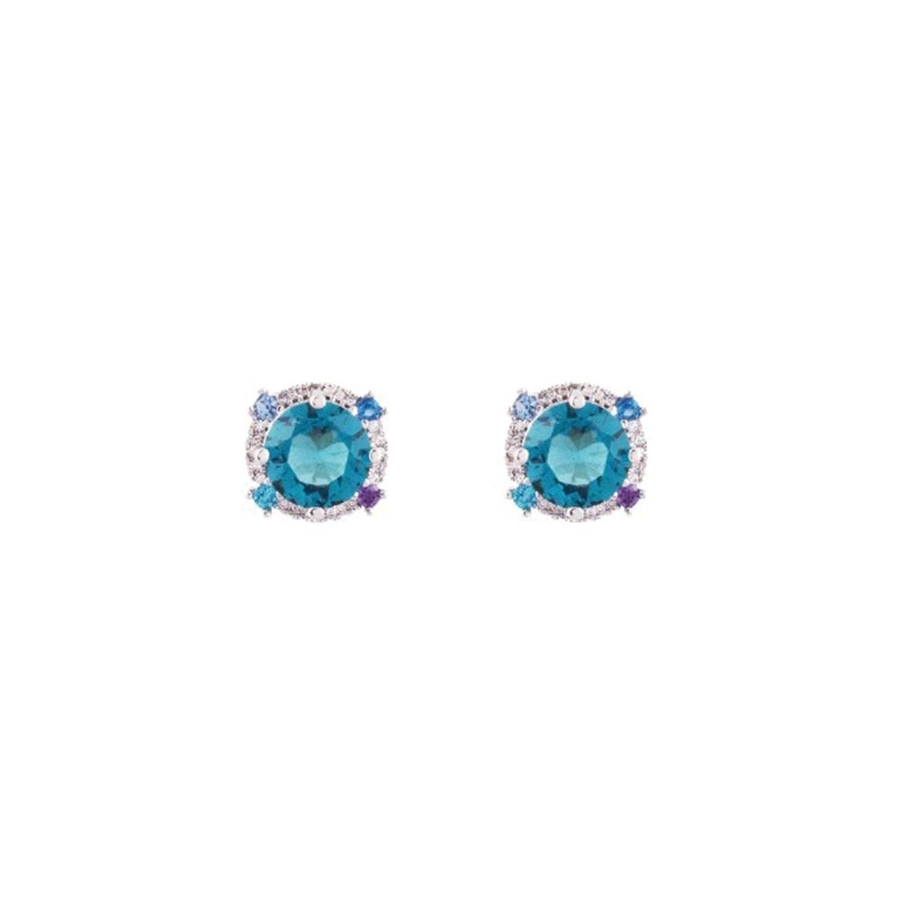NOONOO FINGERS BLUE MARBLE EARRING 耳環