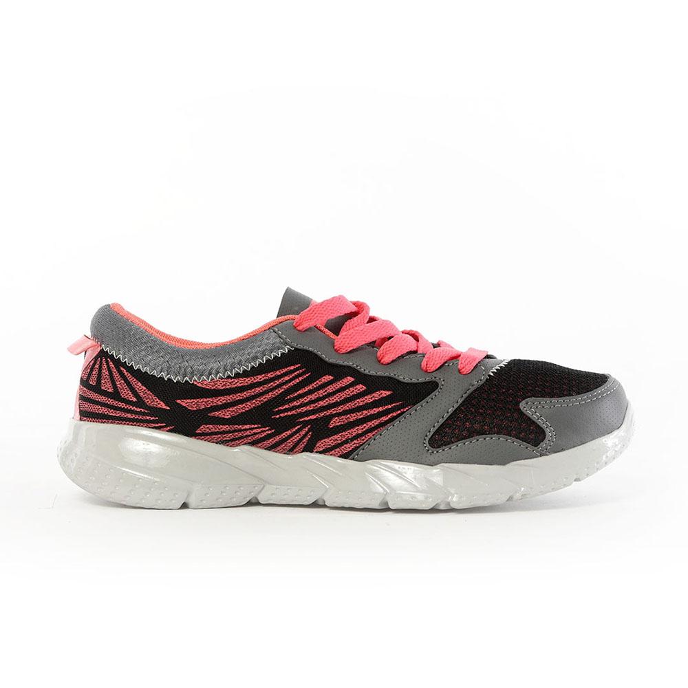 【TOP GIRL】飛線網布透氣慢跑運動鞋-黑