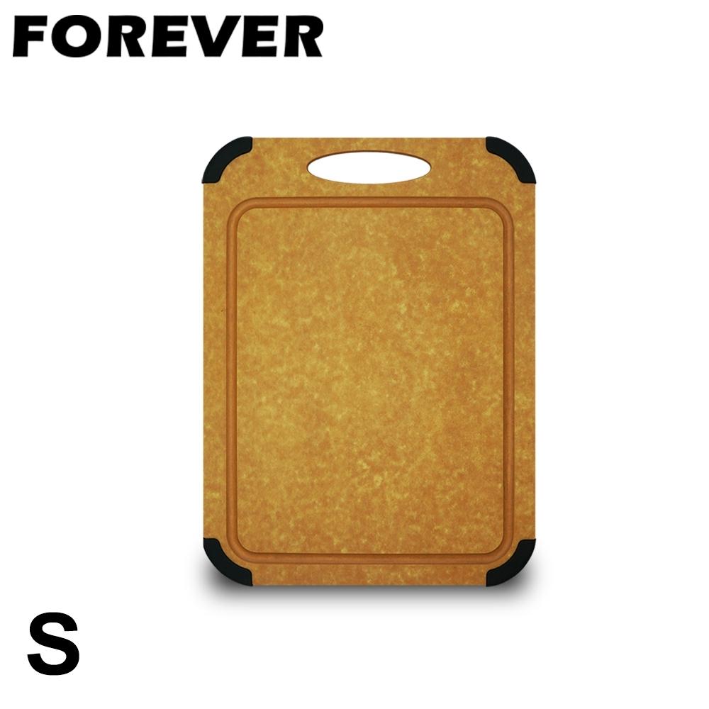 日本FOREVER 松木木質砧板/防滑防霉集水溝槽設計(小)