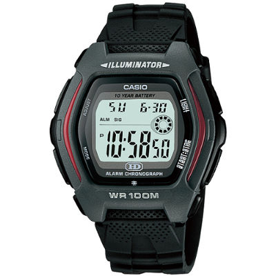 CASIO 豪情戰將運動電子錶-灰(HDD-600-1A)/27.5mm