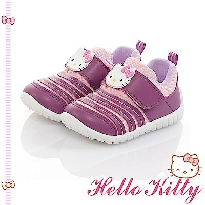 HelloKitty 透氣輕量減壓抗菌防臭休閒童鞋-紫