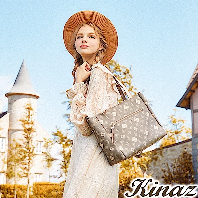 KINAZ 淑女手札兩用斜背托特包-清秀佳人系列-快