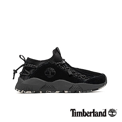 Timberland 男款NNH黑色全粒面皮革運動鞋|A1WDB