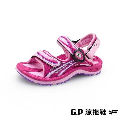 G.P 【EFFORT+】戶外休閒兒童涼拖鞋-桃紅 G1617B GP 涼鞋 拖鞋 兩用涼拖鞋 童鞋