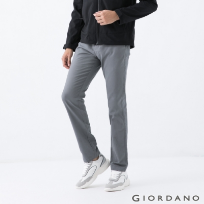 GIORDANO  男裝中低腰修身窄管卡其褲 - 06 鐵灰