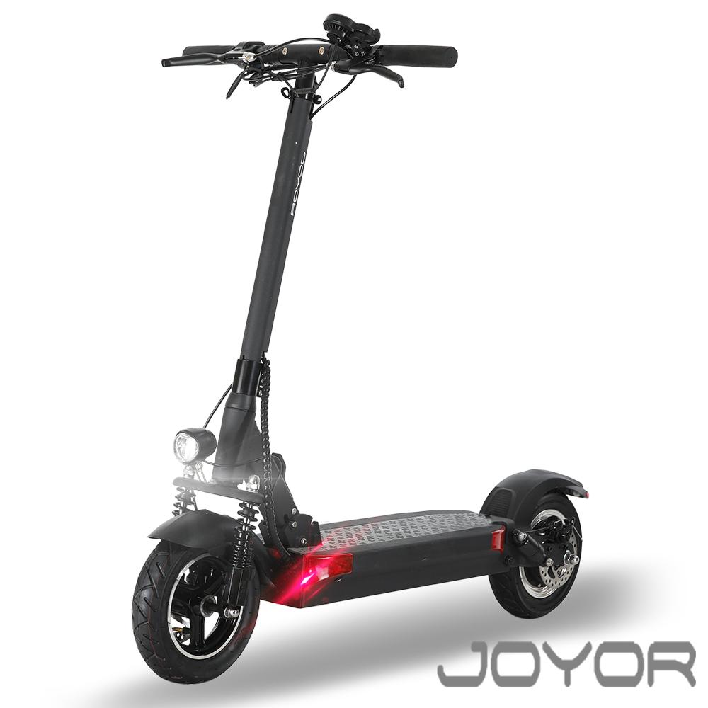 【JOYOR】EY-09 48V鋰電定速  500W電機 10吋大輪徑 碟煞電動滑板車