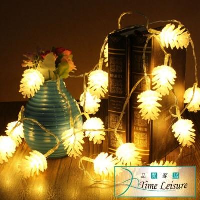 Time Leisure LED派對佈置/耶誕聖誕燈飾燈串(松果/暖白/2M)
