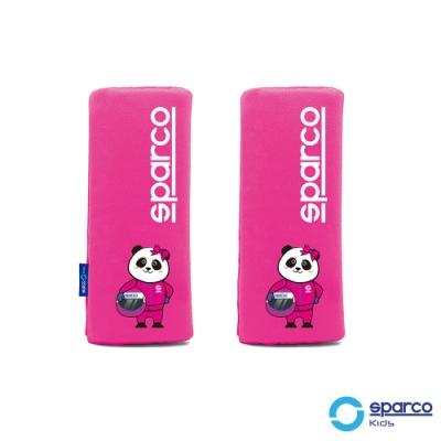 義大利SPARCO兒童安全帶護套-粉紅色