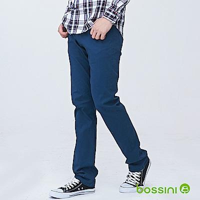 bossini男裝-修身卡其長褲02孔雀藍