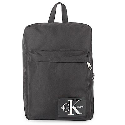 Calvin Klein 經典帆布LOGO後背包-黑色