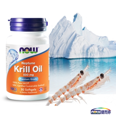 NOW健而婷 南極磷蝦油膠囊食品(30顆/瓶)