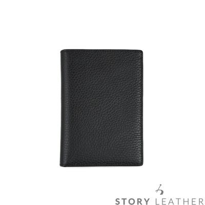 STORYLEATHER Style 90833 牛皮護照夾 荔枝紋黑