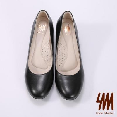 SM-OL素面低跟上班族羊皮淑女鞋