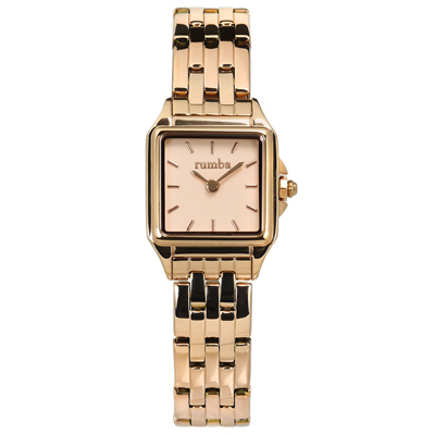 rumba time Bel Air 紐約品牌 不鏽鋼手錶-鍍玫瑰金/20mm
