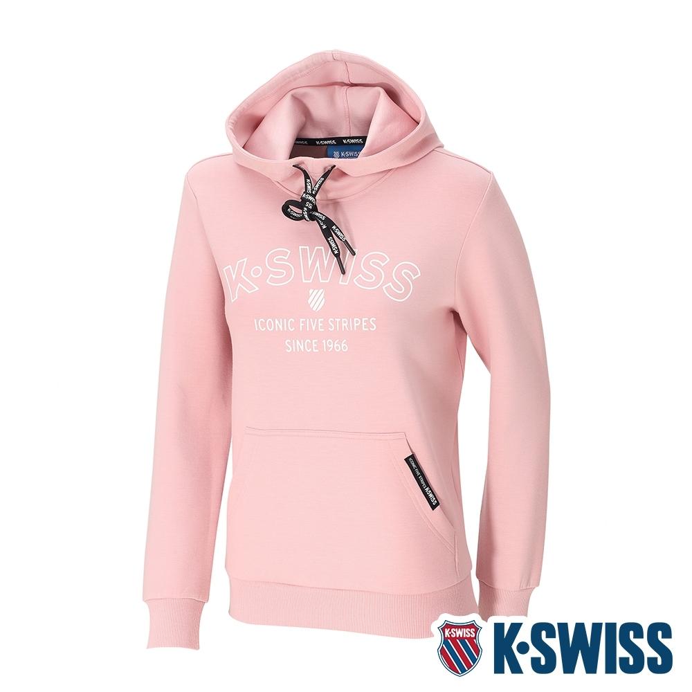 K-SWISS Embossed KS Logo Hoodie連帽上衣-女-粉紅