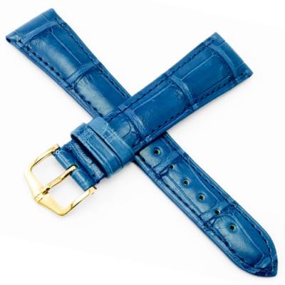 海奕施 HIRSCH London L鱷魚皮手錶帶-貴族藍