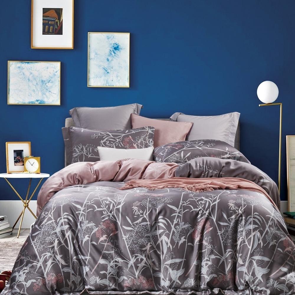 (限時下殺)La Lune 100%純天絲被套床包組 單/雙/大 均一價 (紫霧瀰漫)