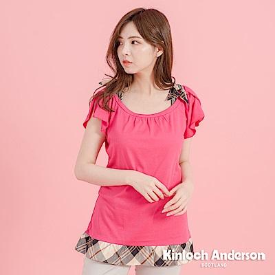 【Kinloch Anderson金安德森女裝】格紋連袖綁帶上衣-2色