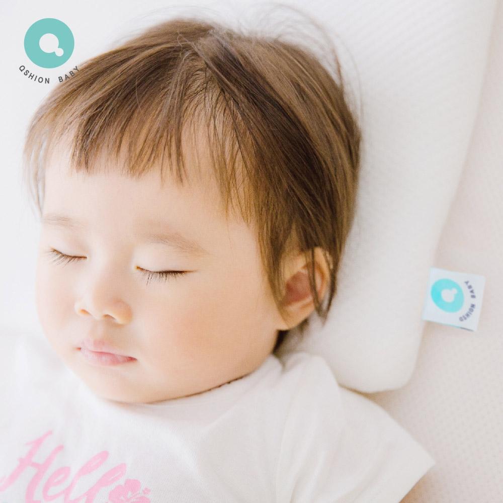 QSHION 透氣水洗甜芯枕 幼童枕(台灣製造 平型枕)
