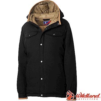 Wildland 荒野 0A62993-54黑色 女鵝絨防潑水極暖外套