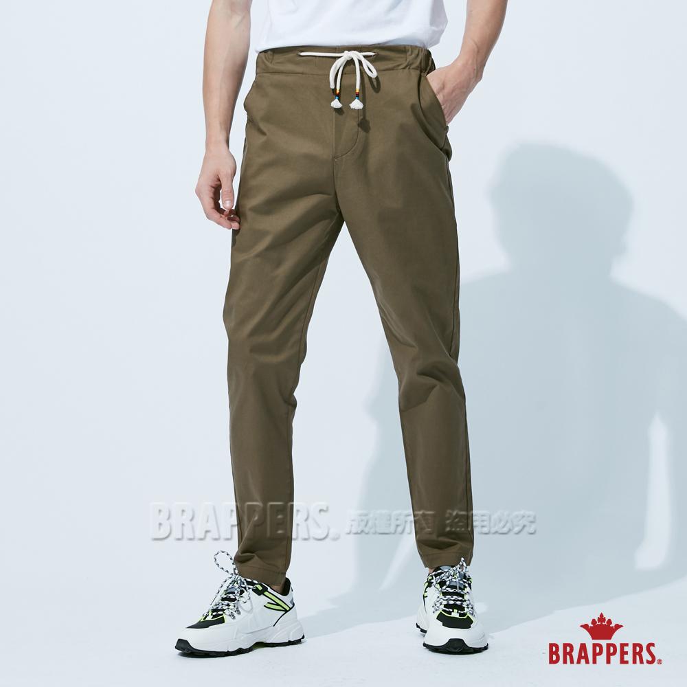 BRAPPERS 男款 鬆緊帶運動八分褲-綠