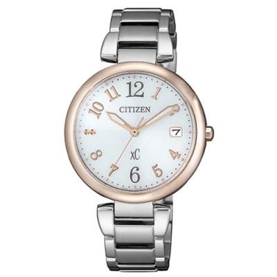 CITIZEN 星辰XC系列廣告款銀色時尚光動能女錶33mm(EO1195-51A)