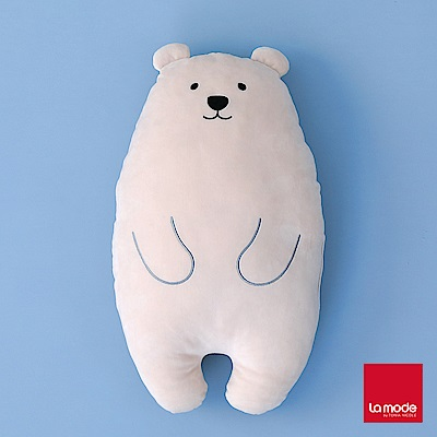 La Mode寢飾 萌寶動物舒柔系列_小熊軟糖長抱枕