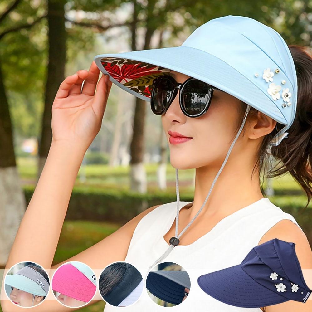 EZlife通風可折疊大帽沿遮陽帽