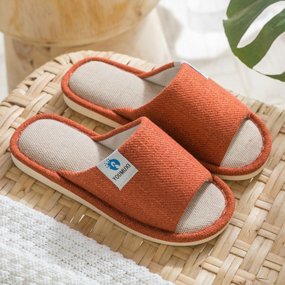 【西格傢飾】日式舒適棉麻室內拖鞋