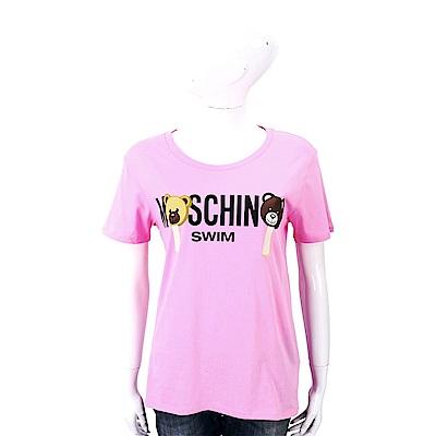 MOSCHINO Swim Bear 冰棒熊粉色棉質T恤