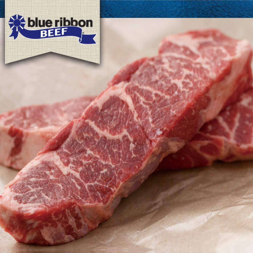 豪鮮牛肉 藍絲帶黑安格斯雪花無骨牛小排4片(200g±10%片)