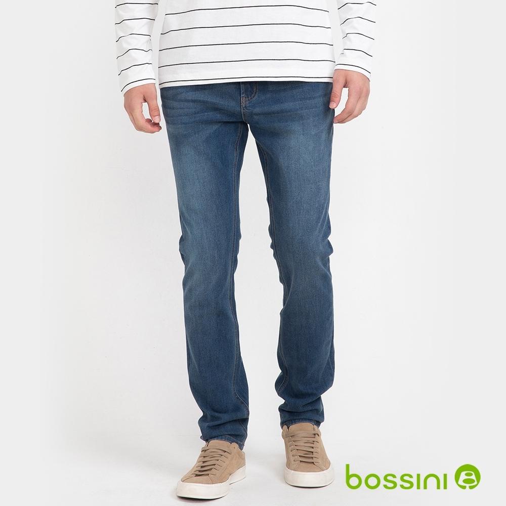 bossini男裝-四向彈貼身牛仔褲牛仔藍
