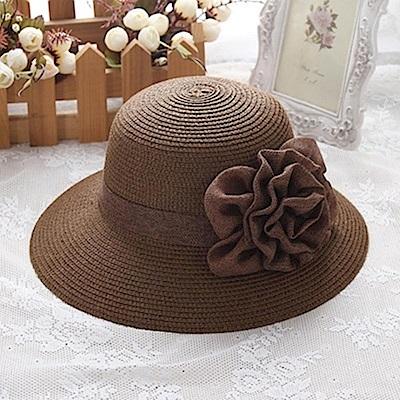 米蘭精品 草帽防曬遮陽漁夫帽-夏季時尚優雅大花朵女帽子母親節禮物73rp115
