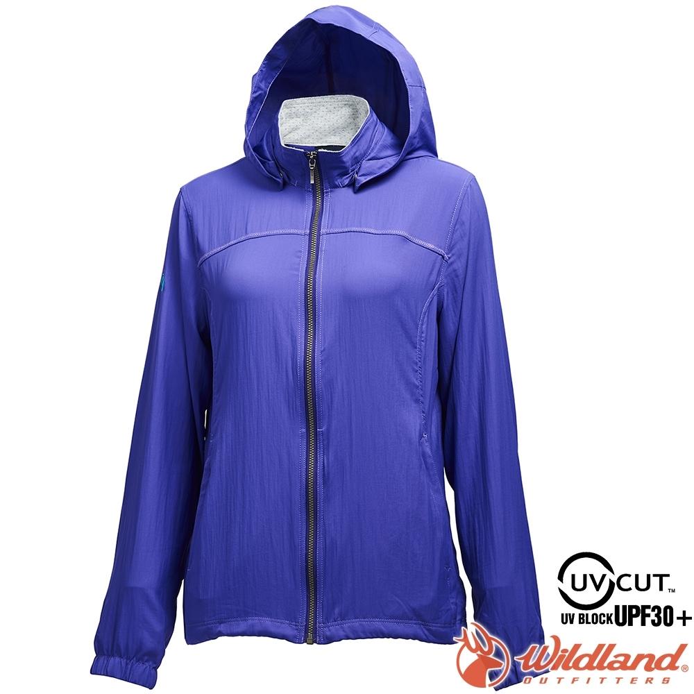 Wildland 荒野 0A71905-29紫羅蘭 女彈性透氣抗UV輕薄外套