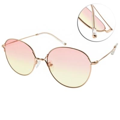 CARIN 太陽眼鏡  漸層圓框款/玫瑰金-粉黃鏡片#DAY C1