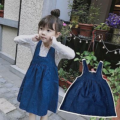 小衣衫童裝    小女生娃娃款拉鍊牛仔背心裙1070330