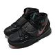 Nike 籃球鞋 Kyrie 6 運動 女鞋 避震 包覆 明星款 魔鬼氈 大童 球鞋 黑 綠 BQ5599006 product thumbnail 1
