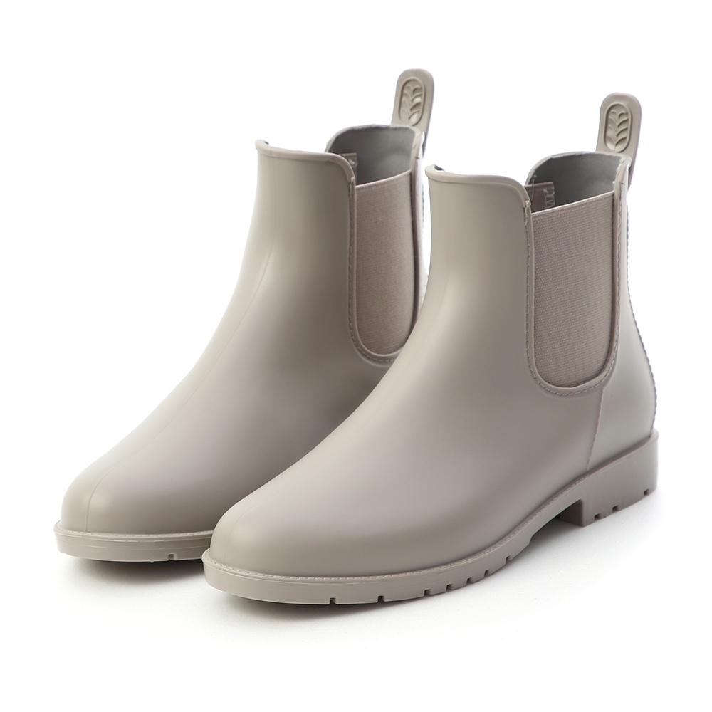 D+AF 晴雨二穿.側鬆緊切爾西短雨靴*灰
