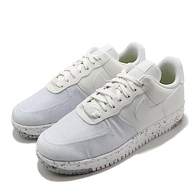 Nike 休閒鞋 Air Force 1 Crater 男女鞋 經典 AF1 皮革 質感 簡約 情侶穿搭 白 灰 CZ1524100
