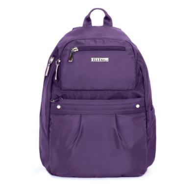 ELLE Active 知性優雅系列-防盜 後背包-中-紫色