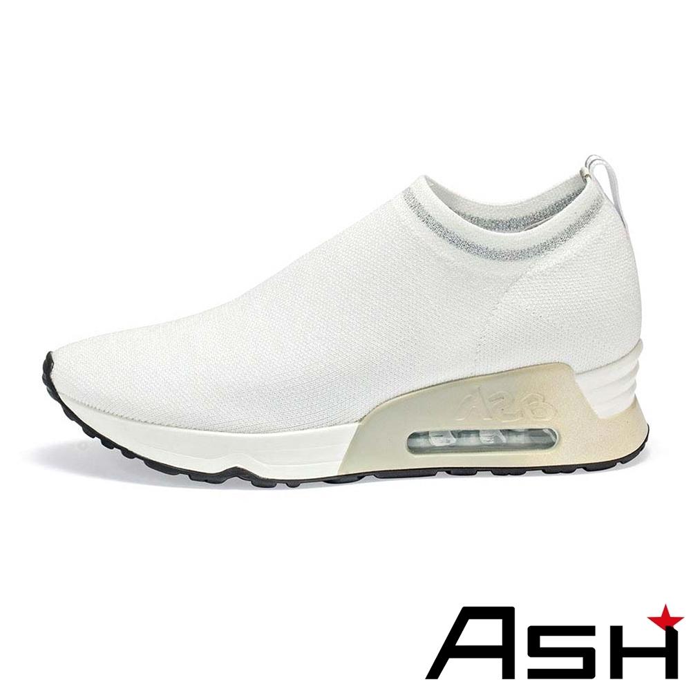 ASH-LOVELESS彈力針織輕量襪套運動鞋-白