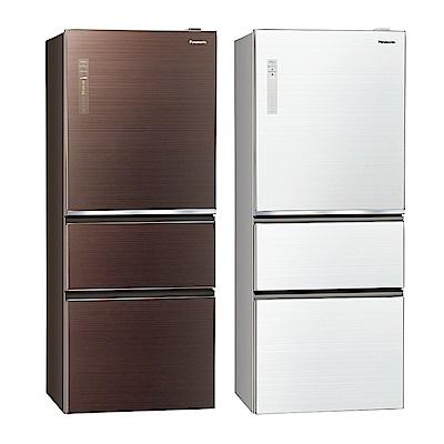 [無卡分期12期]Panasonic國際牌 三門 電冰箱 NR-C509NHGS