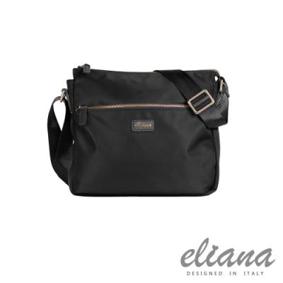 eliana - BREEZE系列輕量斜背包- 摩登黑