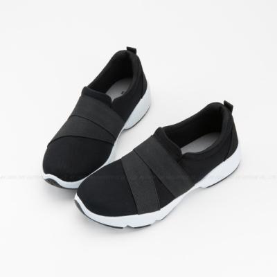 ARRIBA艾樂跑女鞋-休閒運動鞋 便鞋 懶人鞋-黑/灰黑(AB8034)