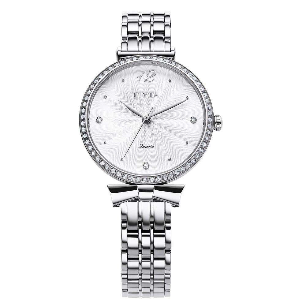 FIYTA飛亞達 Young+系列L851000.WWWD-白色錶盤/不鏽鋼鍊帶-32mm