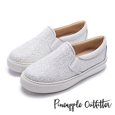 Pineapple Outfitter 璀璨時尚 亮片休閒懶人鞋-白色