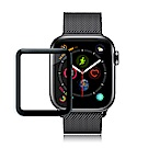 GLA Apple Watch Series 4 40mm全膠曲面滿版疏水玻璃貼 (黑)