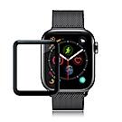 GLA Apple Watch Series 4 44mm全膠曲面滿版疏水玻璃貼 (黑)